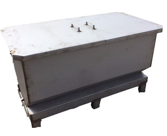 Chemical Stripping Stainless Steel Tank with lid