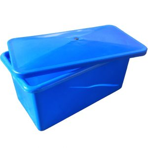 plastic box in blue