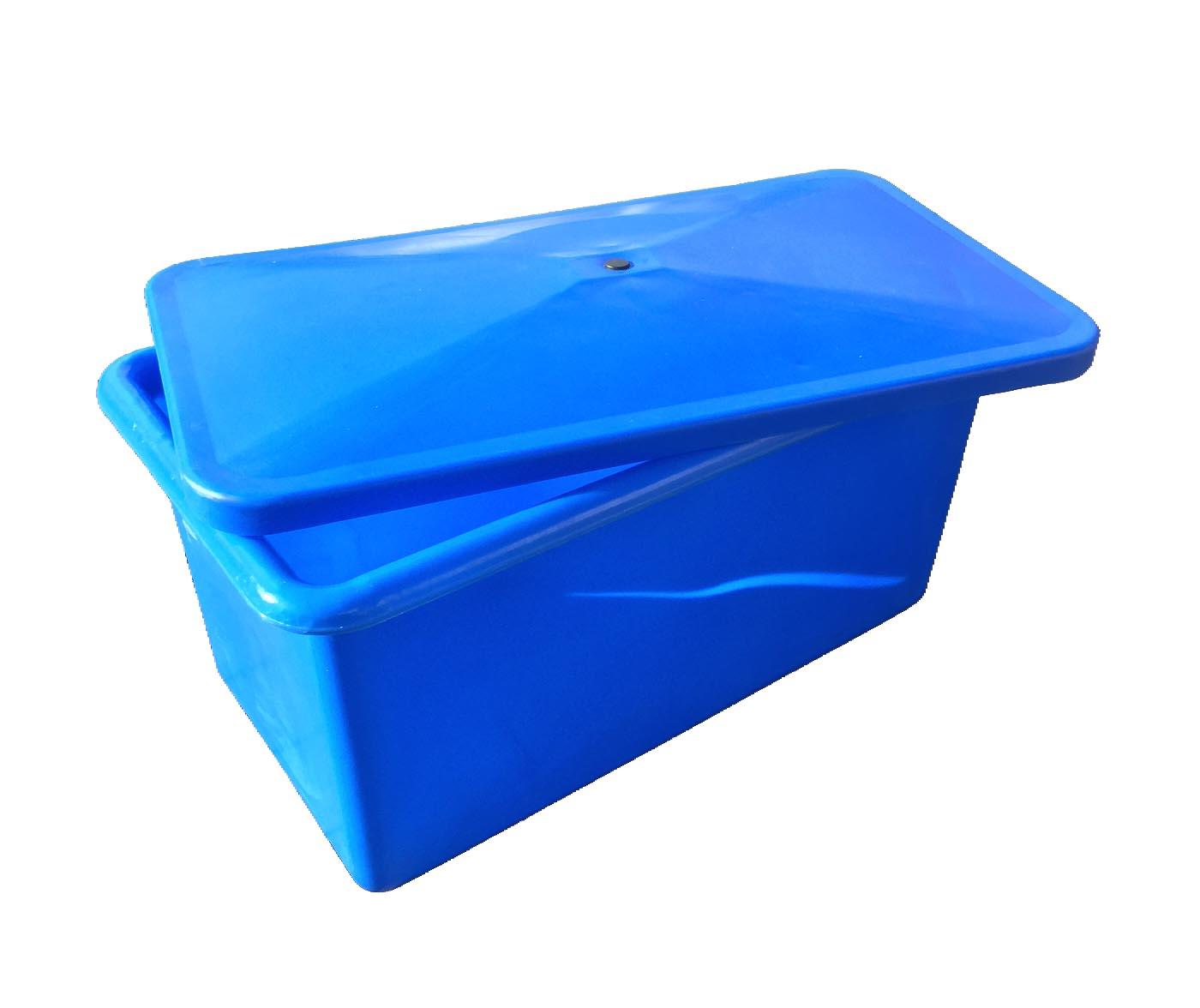 plastic box in blue