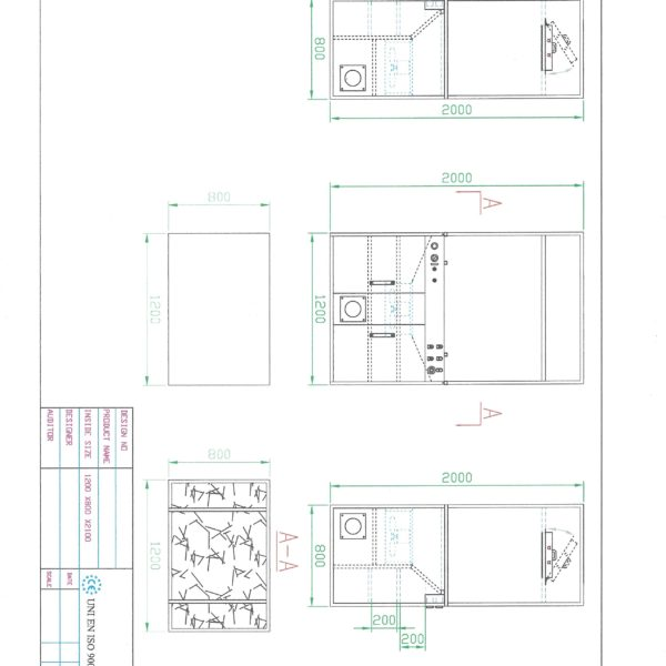 MiDi spray booth 2 - dimensions
