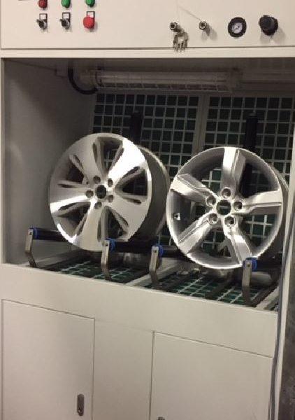 mini booth for wheel refurbishment