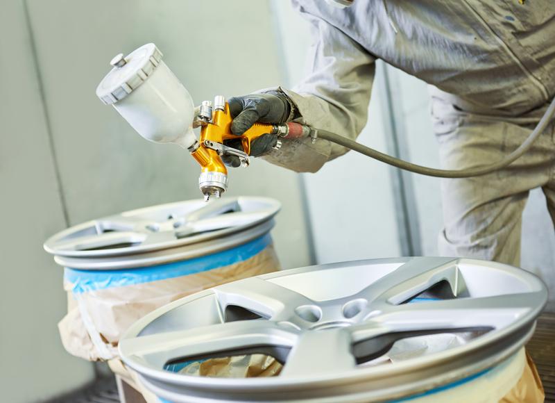 Alloy wheel refurbishment- powder coating