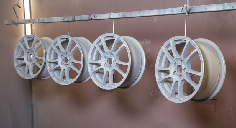 Powder coated rims